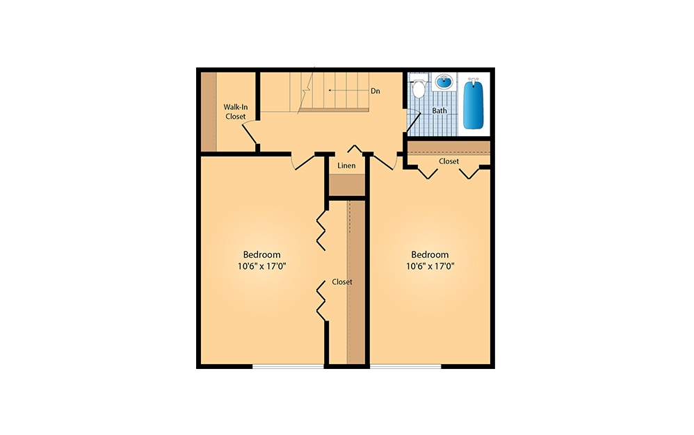 2 Bed / 2 Bath Townhome